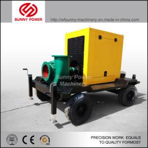 10inchトレーラーとの鉱山または洪水の排水のためのディーゼル水ポンプ