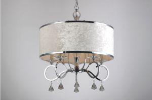 Luxo moderno elegante Lustre luz 5 com panos de sombra