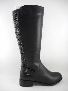 2015 Chaussures femmes Lady genou occasionnels plat haute Boot Boot avec Knee-High Upper