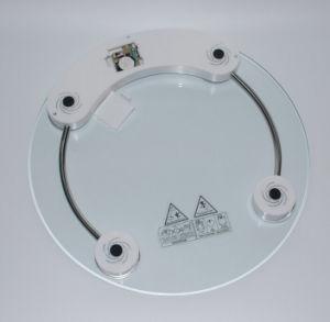 Pesatura della scala rotonda di salute di vetro di misurazione