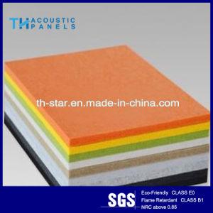 Suspendido de poliéster fibra mineral panel acústico Techo