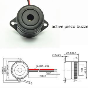 30mm 직경 압전 세라믹 초인종 (설치 유형)