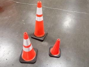 Haute qualité de la sécurité routière PVC trafic cône doux et souple