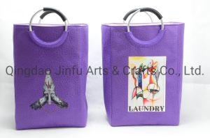 Paniers à linge en tissu coloré, étanches, double couche, grande capacité, pliables, impression de mode, bac à linge personnalisé