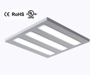 20W 40W 60W LED del panel Troffer UL abajo de la luz de la rejilla
