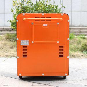 バイソン(中国) 6000W 6kVAのキーの開始の工場価格の携帯用ホーム使用法のための186fa無声ディーゼル発電機6kw