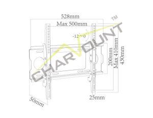 26  - 55 를 위한 수직으로 조정가능한 텔레비젼 마운트, 도매 텔레비젼 벽 마운트 부류 (CT-PLB-5041)