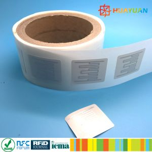 860-960MHz IMPINJ MONZA R6 UHF autocolante antifalsificação etiqueta RFID Tag