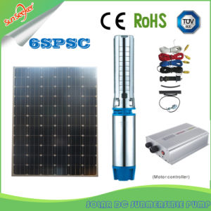 Bomba Sumergible Solar de la Chine 0.75-1-1.25-2-3-4pouces DC pompe solaire