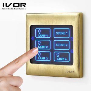 Ivor Smart Home do Interruptor da Luz da Tela de Toque do interruptor de parede com Master Control / Controle Remoto