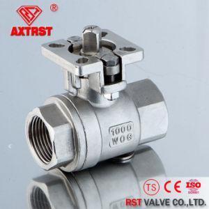 2PC ha avvitato la valvola a sfera di galleggiamento dell'acciaio inossidabile con il rilievo ISO5211