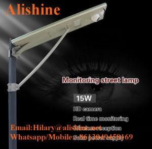 Extérieur intégré intelligent de la rue solaire LED Lampe avec caméra de vidéosurveillance