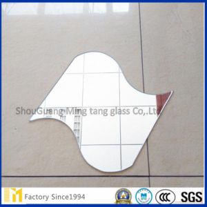 Floatglas-Silber-Spiegel der Wand-dekorativer unregelmäßiger Vierecks-Form-3mm 4mm
