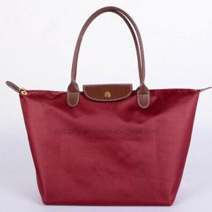 고품질 선물 형식 Foldable 나일론 쇼핑 끈달린 가방