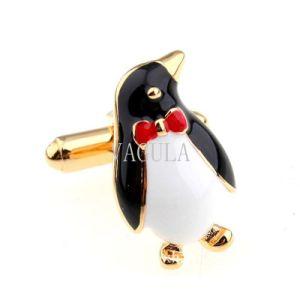 Cufflink van het messing Geplateerde Manchetknopen 279 van de Stijl van de Pinguïn Goud