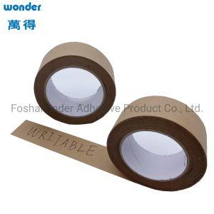 Auto-adesivas gravável Brown fita de papel kraft revestido com adesivo de borracha