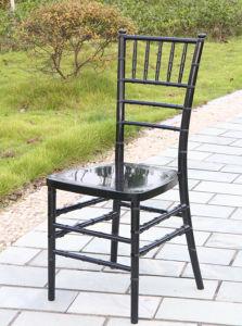 수지 결혼식 Tiffany 까만 겹쳐 쌓이는 의자