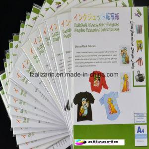 Papel de transferência térmica de cor A4 escura para a impressão de Digitas