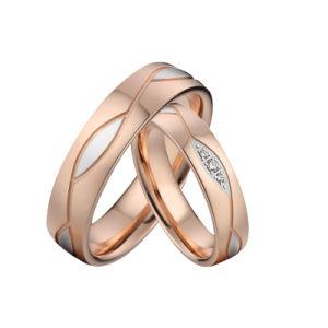 Custom закрывается Золотой лист из нержавеющей стали круглыми обручальные кольца