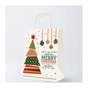 Portée de main en papier kraft Sac en Papier de cadeau de Noël (YH-PGB042)