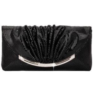[أم] عادة - يجعل جلد أسود قابض محفظة [إفينغ] حقيبة