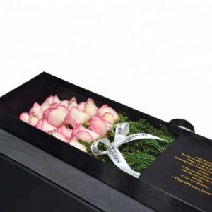 Commerce de gros carton Couleur Emballage de fleurs de Luxe avec ruban