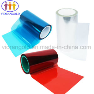 型抜きの企業のための25um/36um/50um/75um/100um/125umの青か赤いペットリリースフィルム