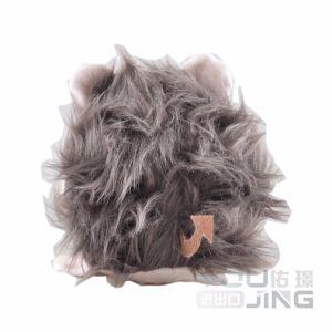 La pequeña muñeca de juguete de espuma de memoria la bola rebote León gris