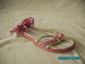 Mesdames000308 Sandales lin (FL)