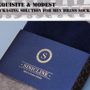 Sinicline 고품질 금박지 로고 남자의 양말 포장
