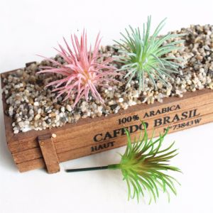 Полые травы стиле Mini Искусственные растения цветы