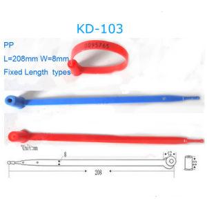Plastikbrücke-Zeichenkette-einmaliger verwendeter Verschluss mit Zahlen (KD-103)