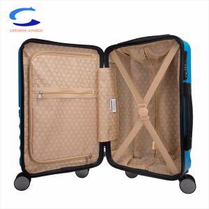 Venta Directa de Fábrica China azul de 20 de ABS resistente al deslizamiento Hard Shell Durable llevar Maleta de Viaje simplista ampliable de bloqueo de la TSA Spinner Trolley maletas