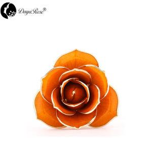 El procesamiento de mayorista de oro rosa de color naranja Diana personalizado