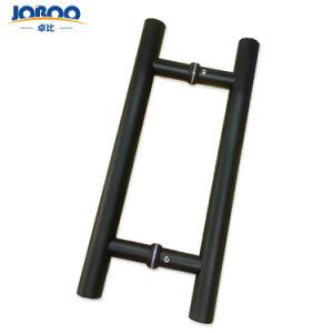 Venda a quente H forma tubo em aço inoxidável puxe e empurre o chuveiro puxador de porta