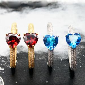 Novo Design de Moda jóias de latão brincos de pedra de gelo para Mulheres