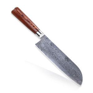 9 polegadas da Faca Kiritsuke japonês em DV10 facas Chef de cozinha de aço Damasco