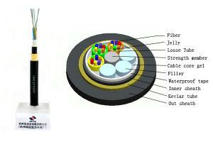 Cavo ottico aereo della fibra di sostegno di auto di ADSS