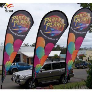 Custom Bandera telescópica Lágrima Banner Publicidad banderas banderas promocionales