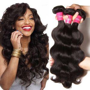 10A Virgem Remy pacotes de cabelo 100% natural de tafetá peruana brasileira por grosso de cabelo humano