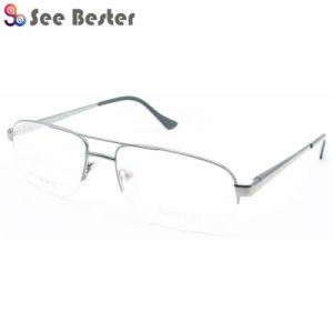 Удобные и моды в половину металлического обода очки оптические кадры