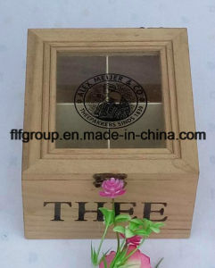 Естественный цвет индивидуальные прозрачное окно крышку деревянный ящик с отсека