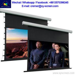 Экран проектора с помощью электропривода Xyscreen Black Diamond переход на летнее время экран