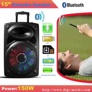 L'altoparlante portatile senza fili di Bluetooth con Revoving illumina il corno