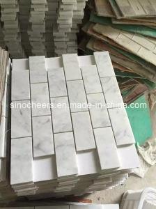 Mosaico de mármol blanco y la losa, delgados, losa de mármol blanco, losas de mármol de Carrara blanco Precio