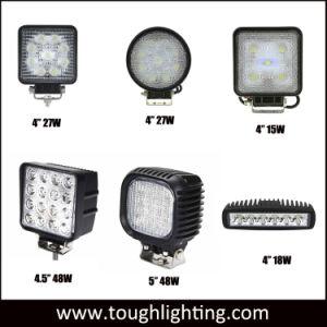 Luz automática 5 Polegada 48W Square LED impermeável IP67 Lâmpadas de Condução