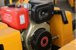 油圧回転システムが付いている振動ローラーの後ろの800のKgの歩行