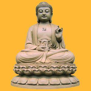 Estátua de Buda de pedra natural