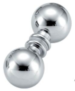 Botão de porta de chuveiro de vidro deslizante de bronze (FS-602)