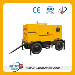 Gruppo elettrogeno diesel mobile delle quattro rotelle
